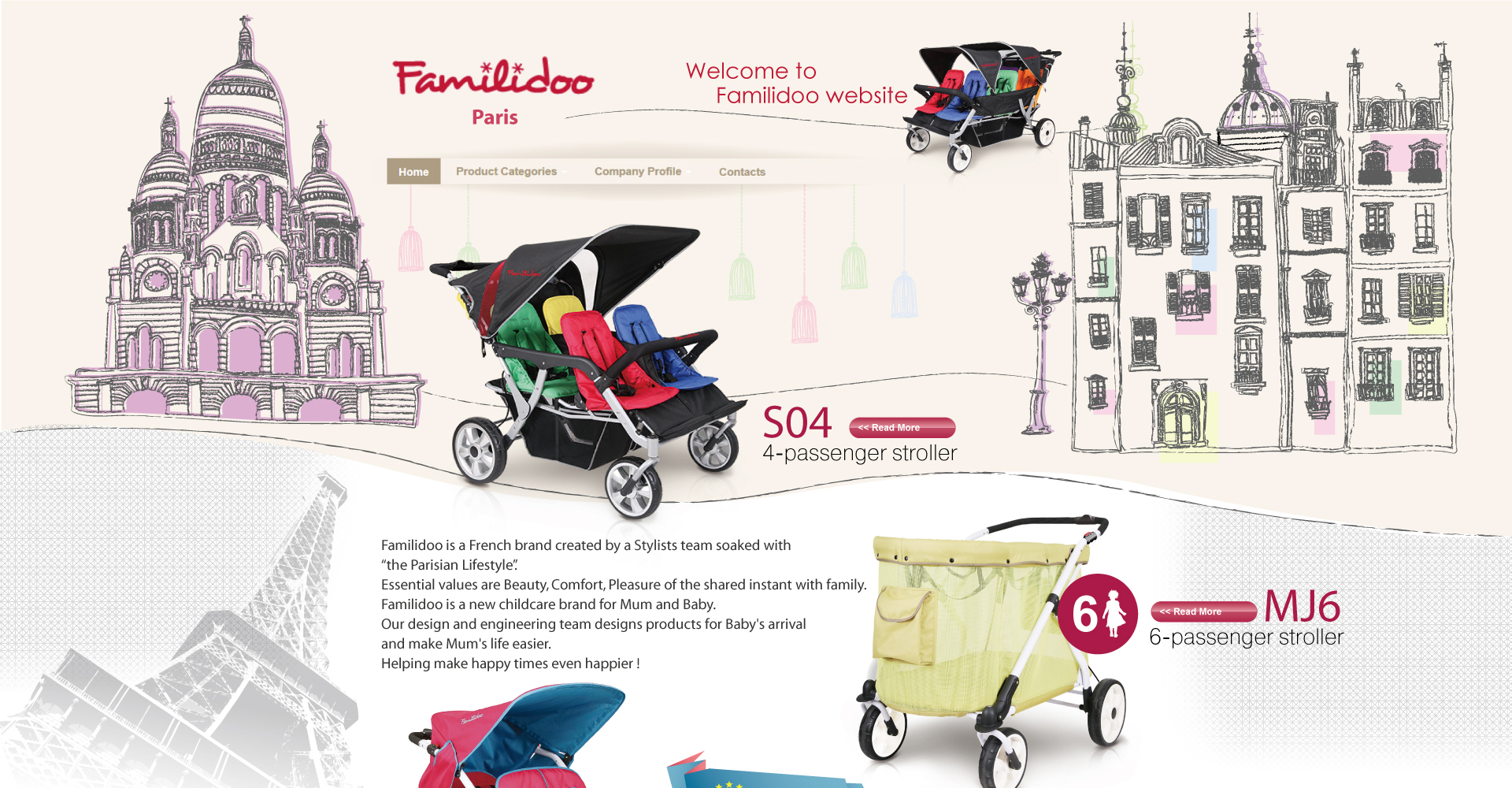 Familidoo baby car design