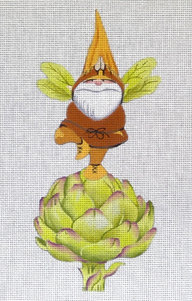 Gnome on Artichoke Tree Pose