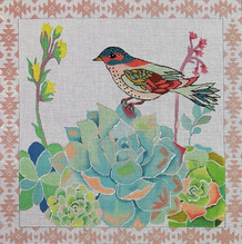 JB-07 Bird and Succulents