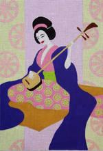 Geisha w/ Sitar
