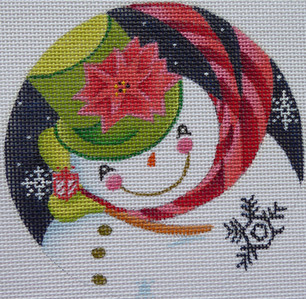 Poinsettia Snowman