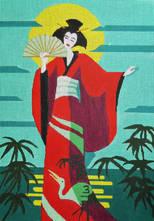Geisha w/ Crane