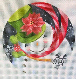 Poinsettia Hat Snowman