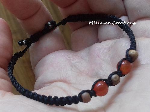 Bracelet Melia Agate rouge