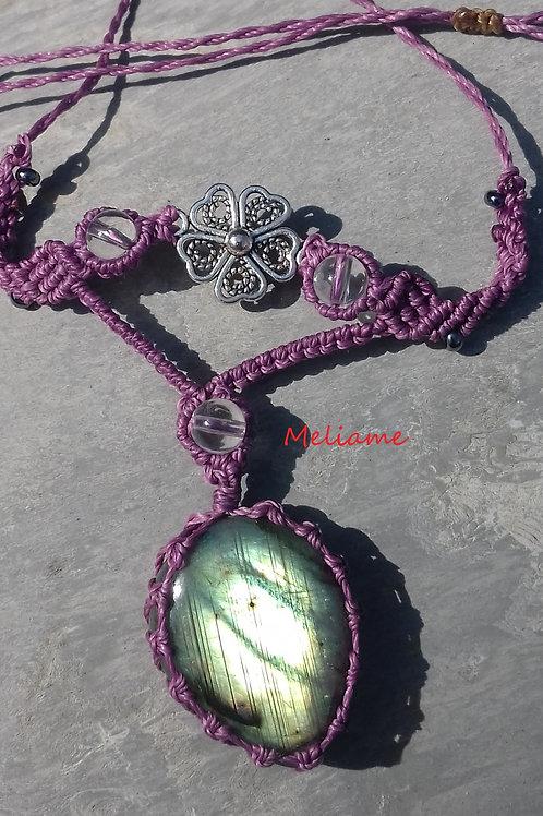 Collier pendentif Lucia Labradorite