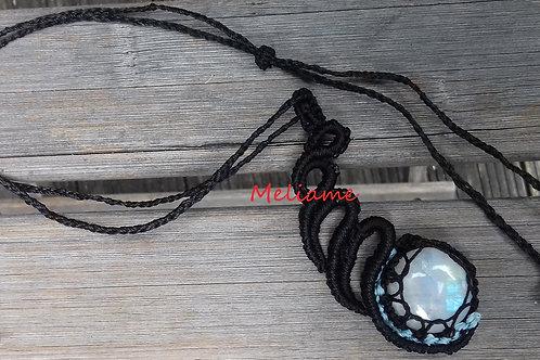 Collier pendentif Tulia Labradorite Arc en ciel