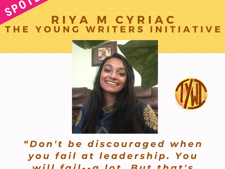 LEADER SPOTLIGHT: Riya M Cyriac
