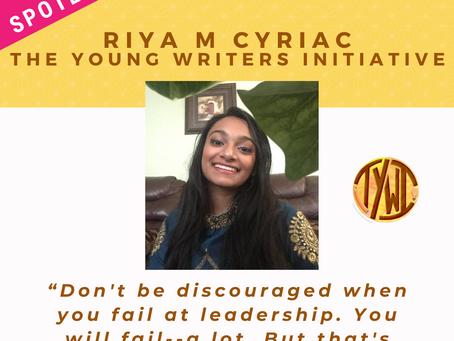 LEADER SPOTLIGHT: Riya M Cyriac