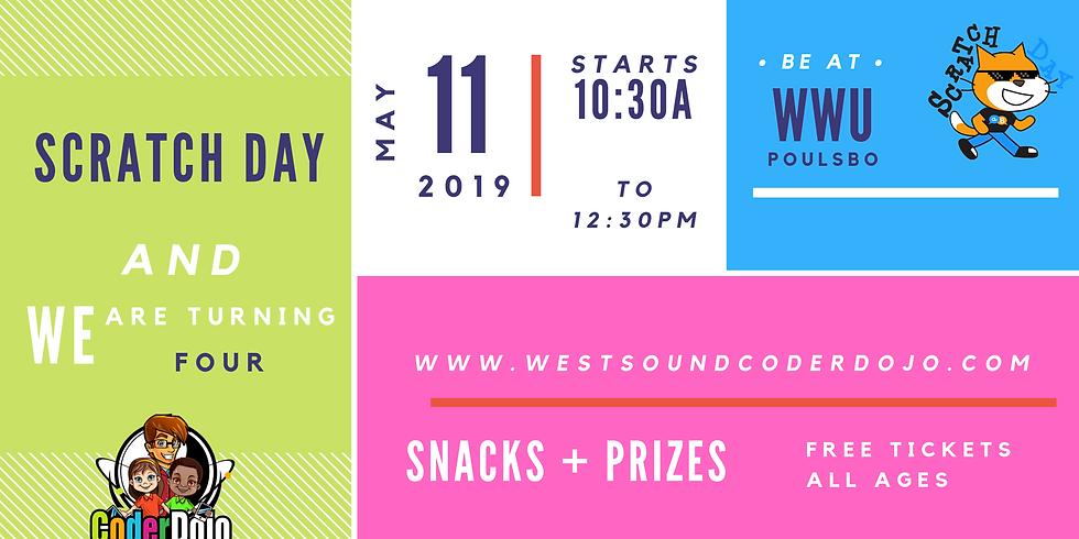 Scratch Day and West Sound Coder Dojo 4th Birthday Bash