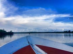 Take a boat onto the lake