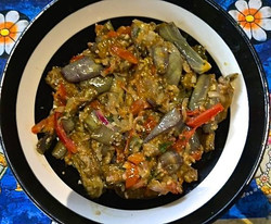 Brinjal curry by our cook