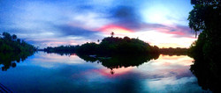 Sunset off the pontoon