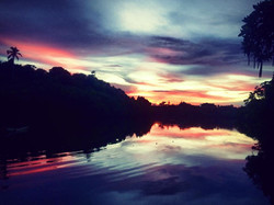 Sunset from the pontoon