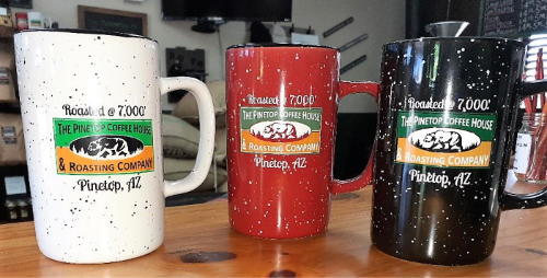 Pinetop Coffee House Ceramic Tall 16 oz Coffee Mug