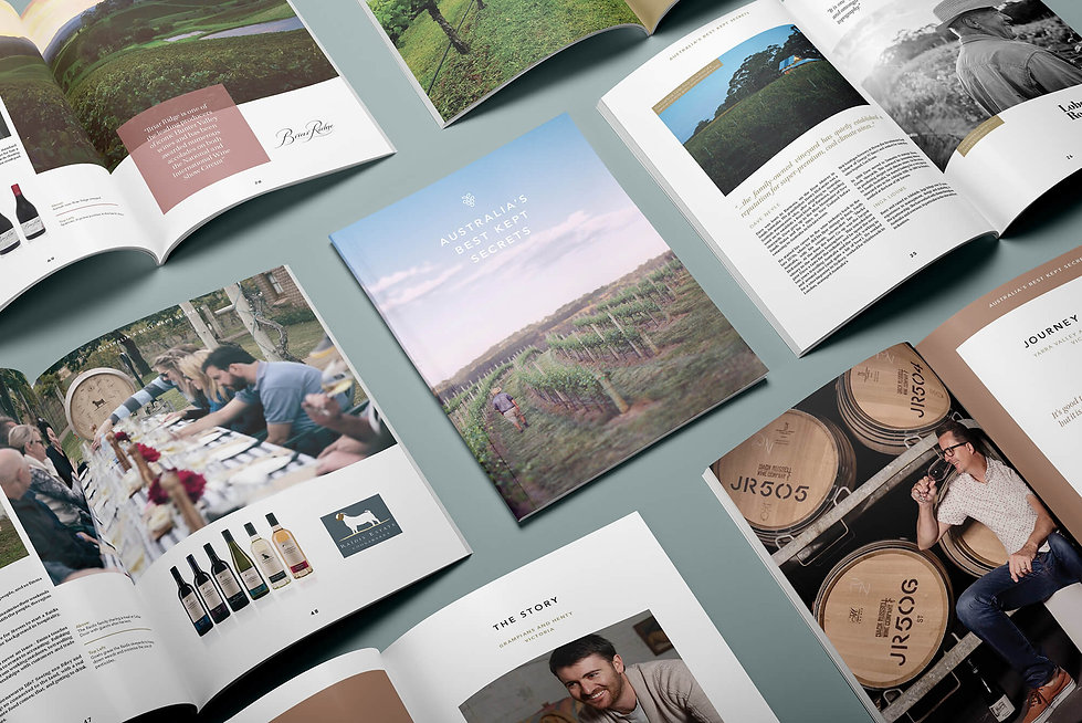 Australia's Best Kept Secrets_Brochure_Collage_Frolik Design