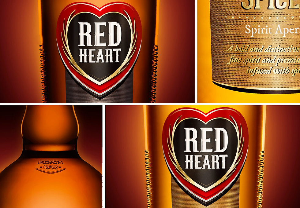 Red Heart Rum Packaging Design_Frolik Design