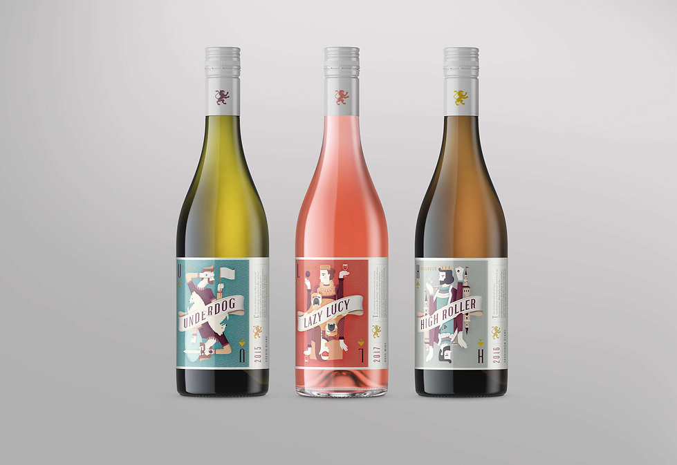 Frolik Design Blackwater Wine Packaging.