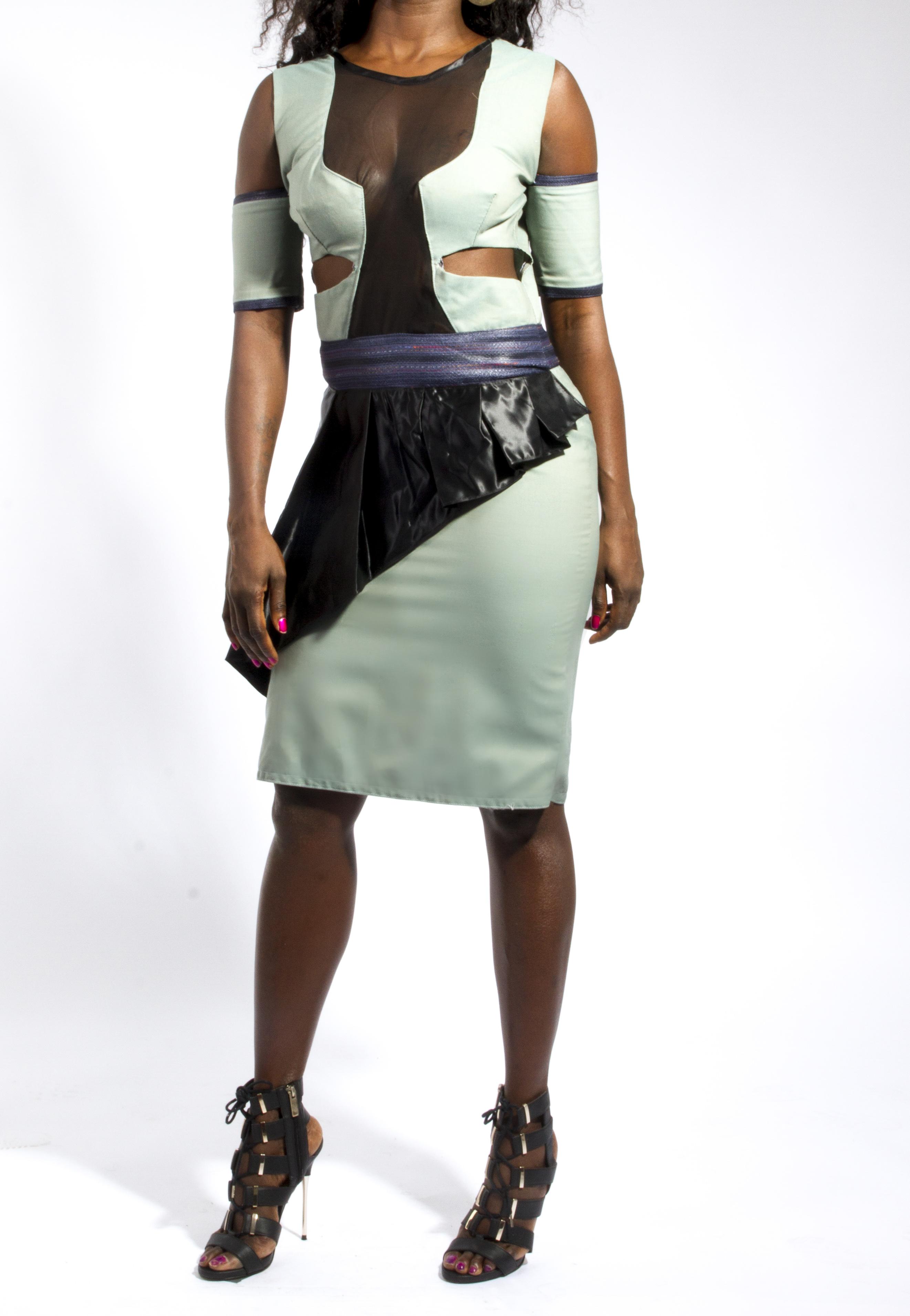 Cut Out Bardot Draped Dress