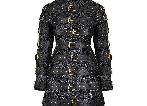 Leather Belt Dress