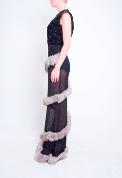 Faux Fur Ball Gown