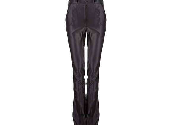 Flared Transparent Trousers