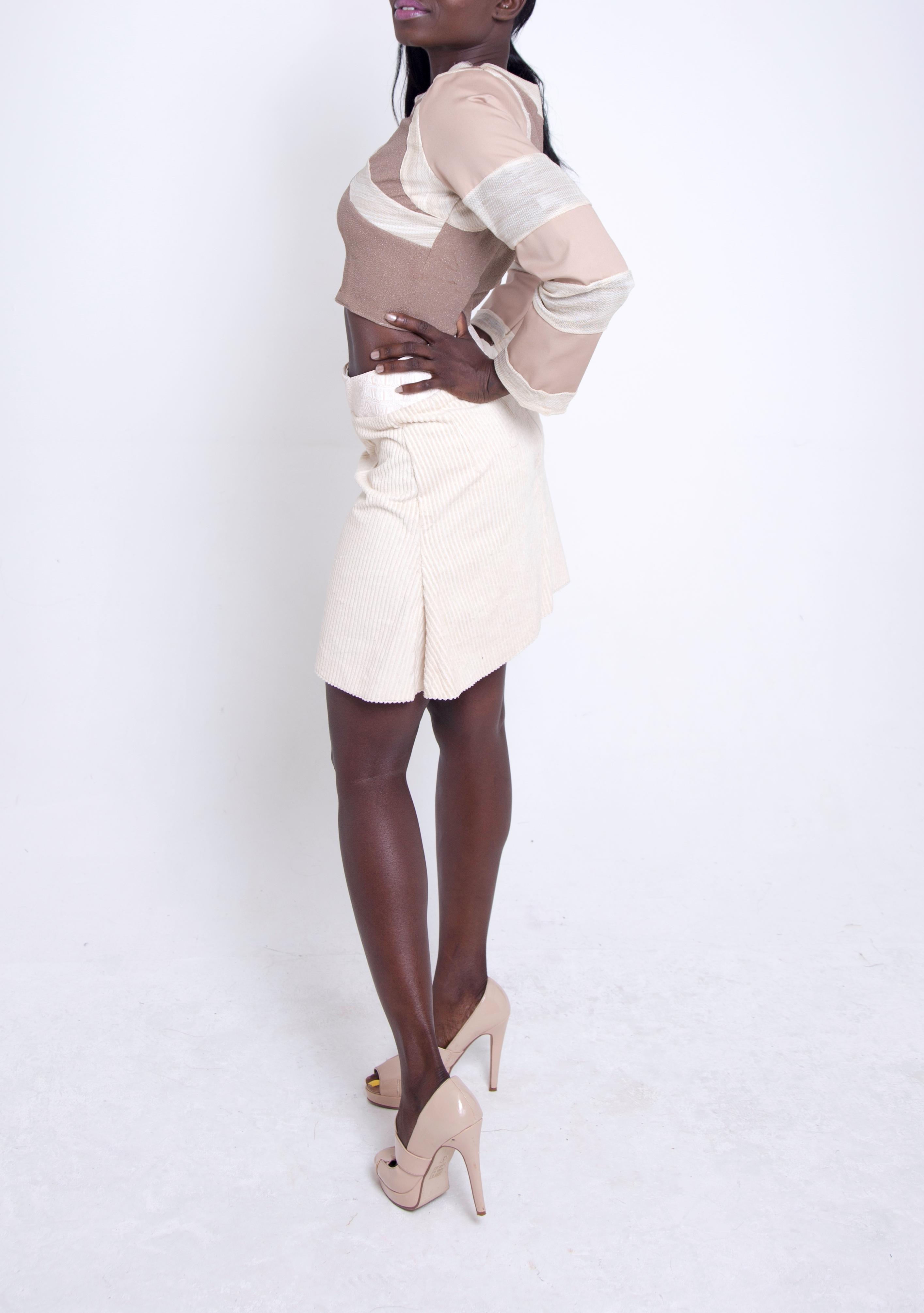 Panel Crop Top & Flared Skirt