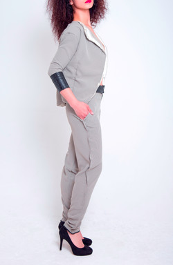 Mock French Seam Suit