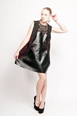 A Line lazer print dress