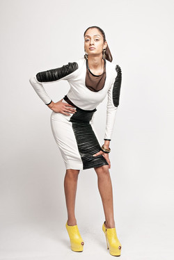Pintuck Panel Dress