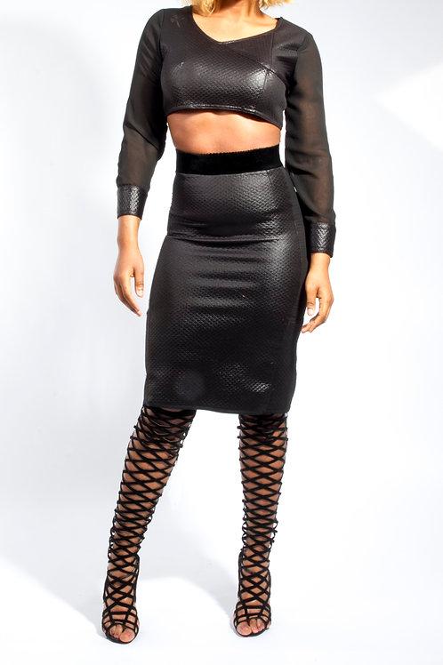 Crop top & Midi Skirt