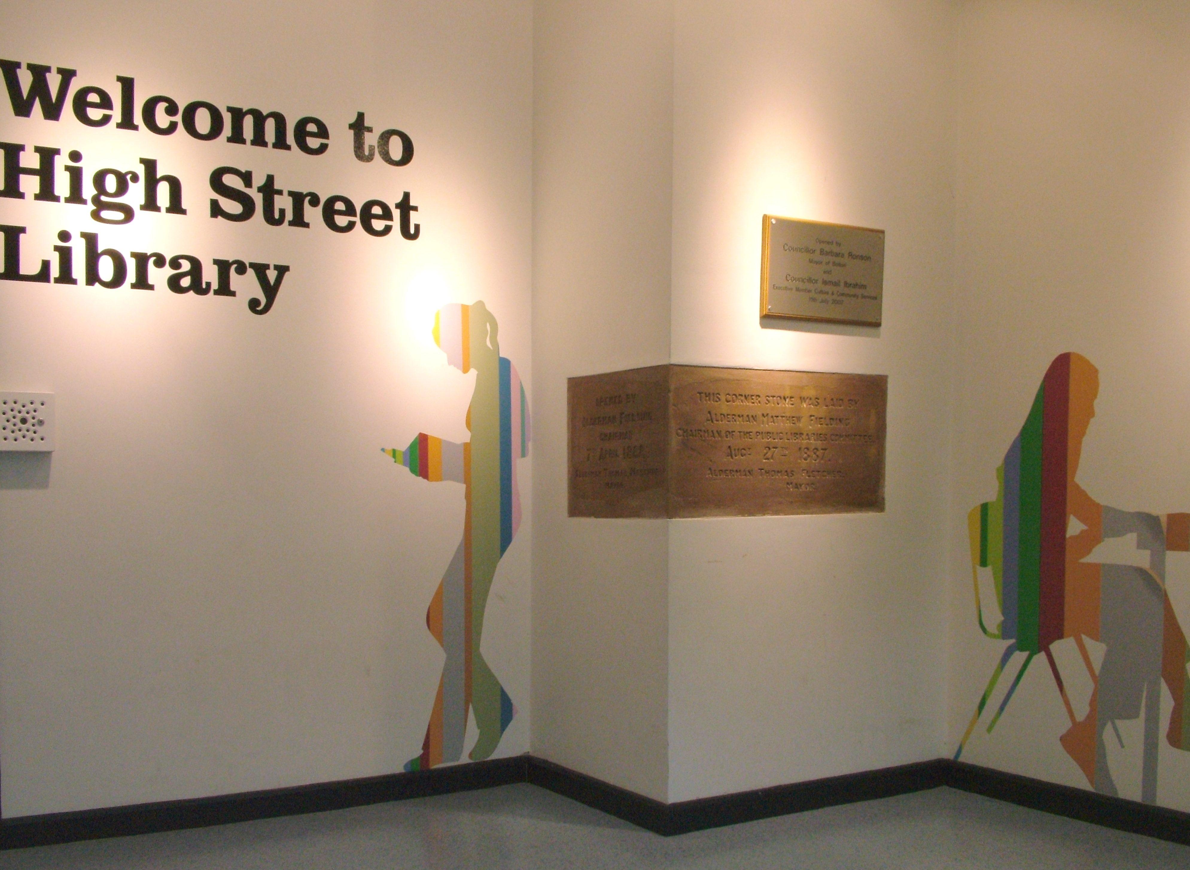 High Street Library - Original Stone