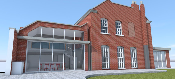 rear proposed extension