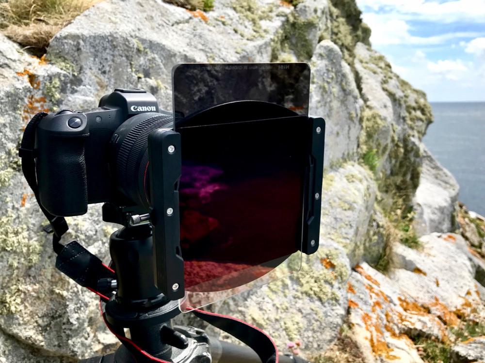 Filtres Nisi et porte filtre 100 mm sur appareil photo Canon EOS R et zoom RF 24-105 L
