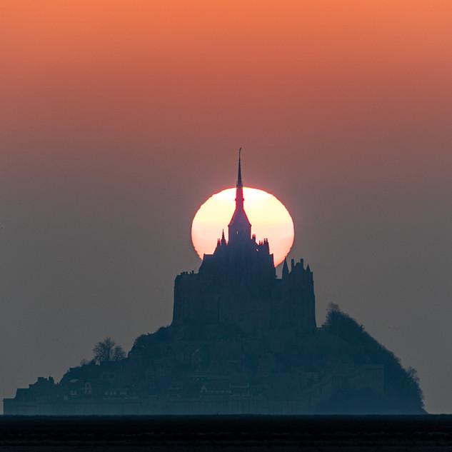 Coucher de soleil d'Equinoxe