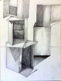 2_Ann Stoddard Drawing I Boxes pencil.jp
