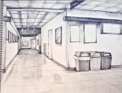 20_Ann Stoddard Drawing I Shaded Hallway