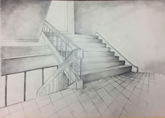 21_Ann Stoddard Drawing I- Shaded Stairc