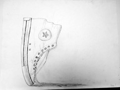 10_Ann Stoddard Drawing I Hightop Sneake