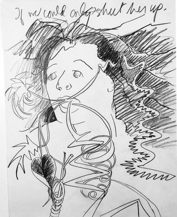 Ann  Stoddard If only-shut Her up_drawin