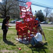 17_Ann Stoddard Sculpture-Collab Chairs