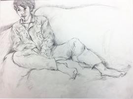 14_Ann Stoddard Drawing II Portrait penc