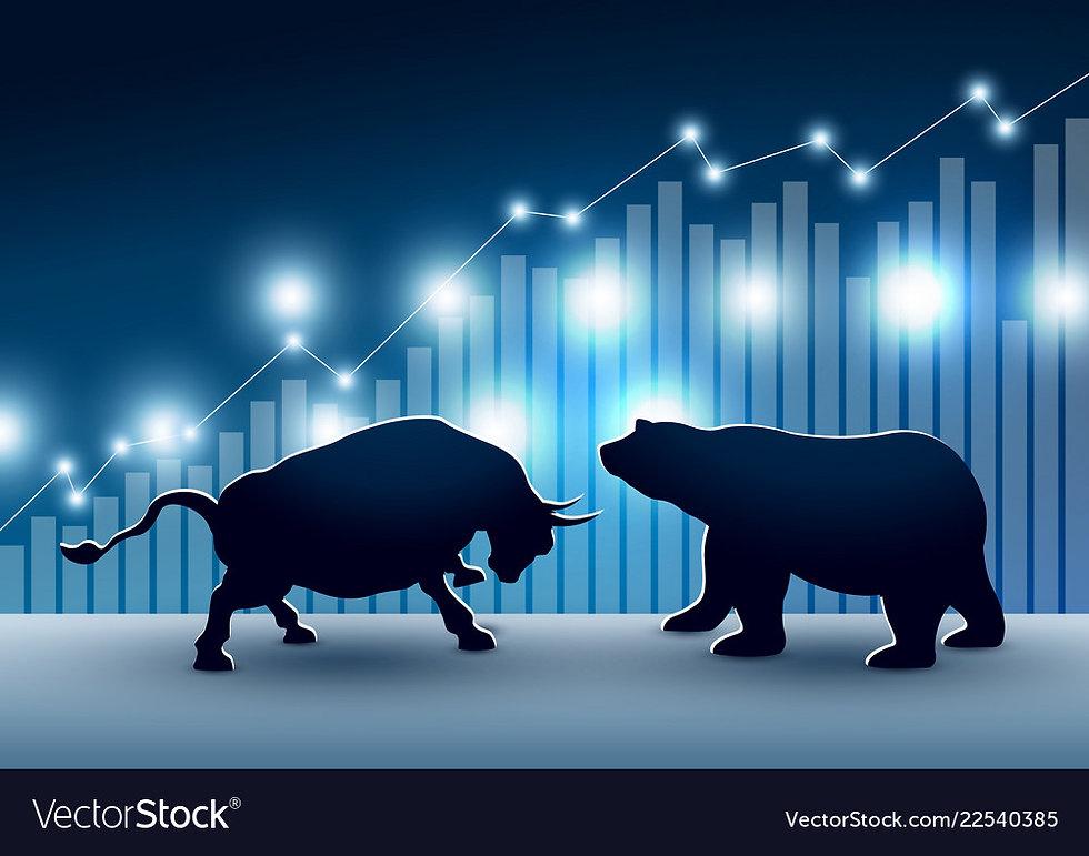 stock-market-design-of-bull-and-bear-vec