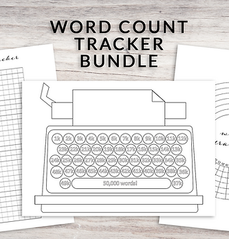 Word Count Tracker Bundle - Perfect for NaNoWriMo & Camp NaNoWriMo!