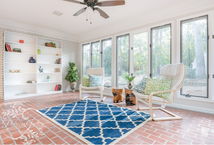 Patricia Justice Designs room refresh image, sunroom