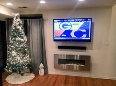 606 Installs | Mounted TV, soundbar, & fireplace