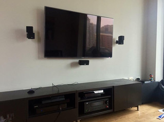 606 Installs   Mounted TV with 3 Speakers