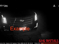 606 Installs - License Plate Camera