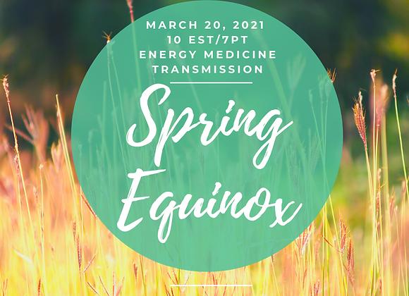 Spring Equinox Energy Medicine Transmission