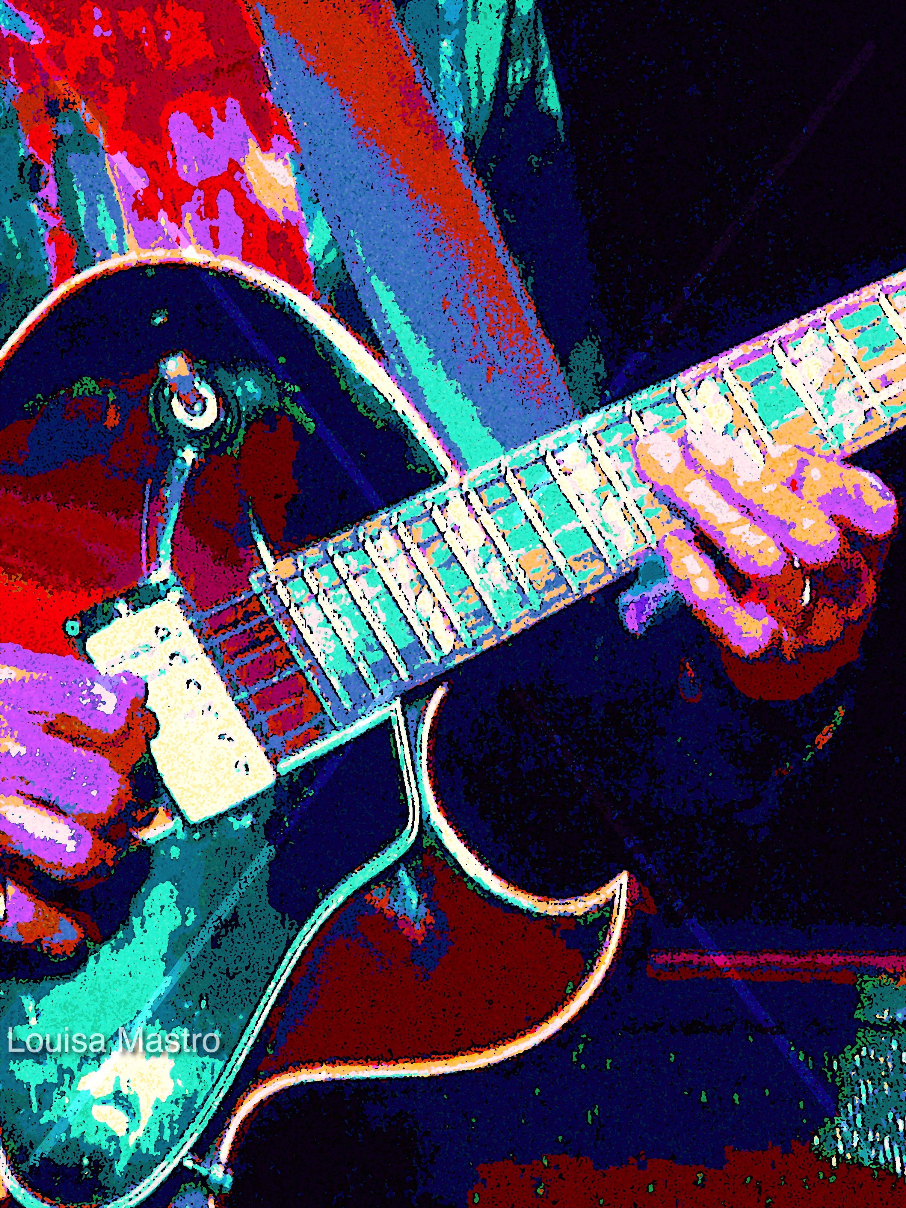Guitar Radiance (c) Louise Mastro   -1