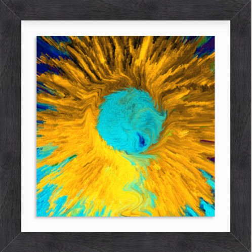 Yellow and Blue Daisy Pop (c) 2020